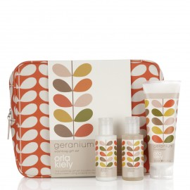 Geranium Wash Bag Gift Set