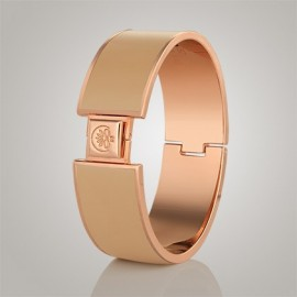 Champagne Gold Plated Large Bangle Nude