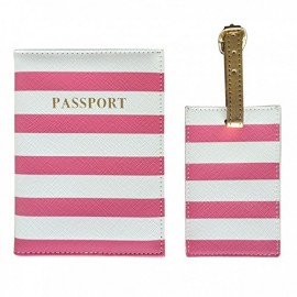 All Aboard! Passport Cover and Luggage Tag Sets